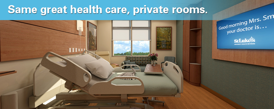 Same great health care, private rooms.